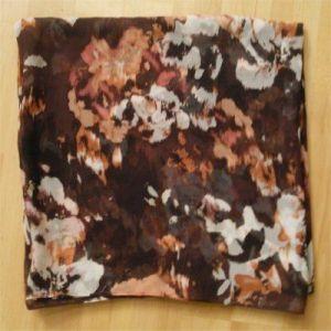 (Brown impressionist print scarf)