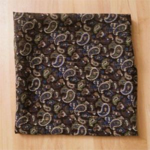 (Brown paisley scarf)