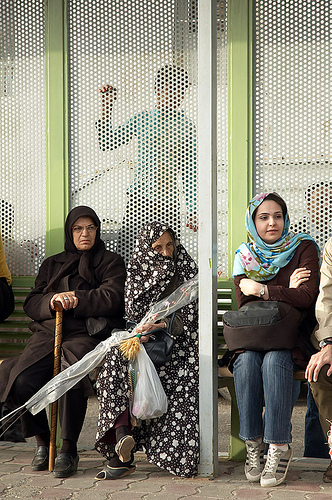 (Women in Iran where pants are the norm and are not considered immodest or unfeminine)
