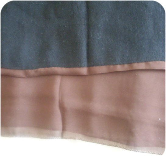 (Closeup of the bottom of the cheap Egyptian Niqab)