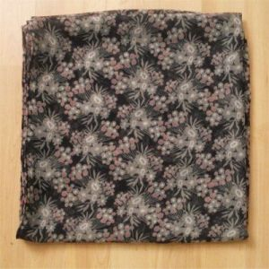 (grey, black and pink print scarf)