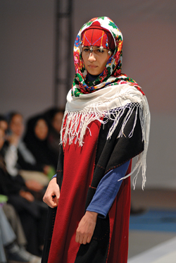 (A runway fashion design based on Torkoman dress)
