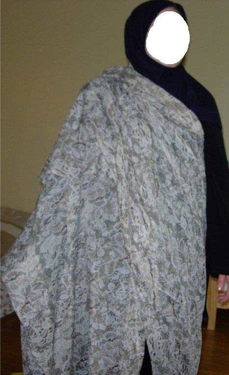 (chador is just thrown over the shoulders and wrapped around, popular in southern Iran)