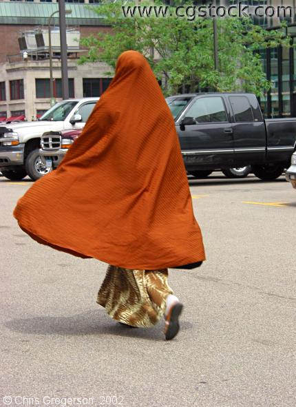Somali Woman in Hijaab, Walking