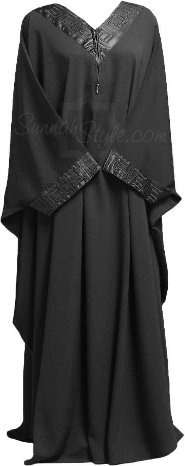 (Black onyx abayah from Sunnah Style)