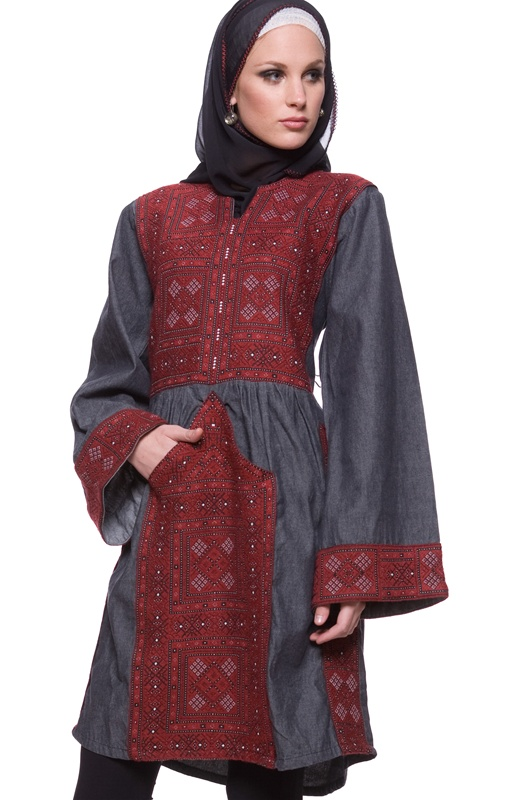 (The Samar Handspun Cotton Tunic with Textural Embroidery - Artizara.com)
