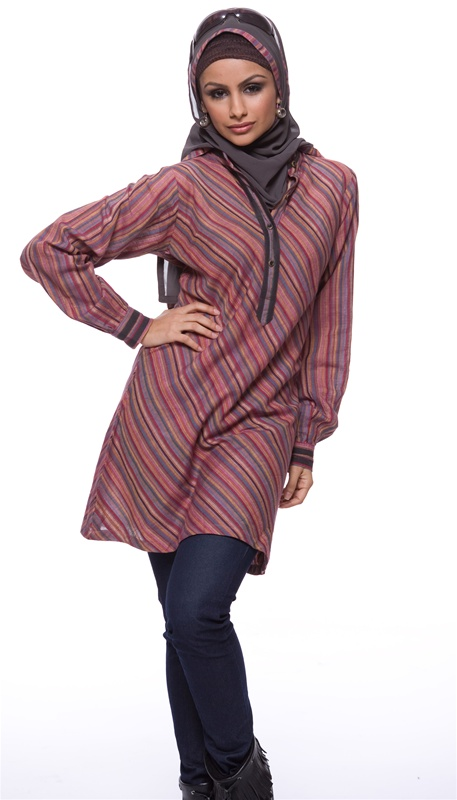 (The Heba Long Hand-spun Cotton Tunic - Artizara.com)