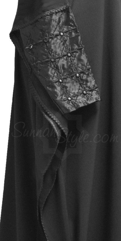 (Black shisha-sleeved Abayah from Sunnah Style)