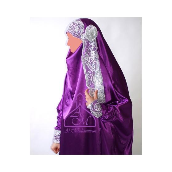 (Bridal jelbab-purple- AlMoultazimoun)